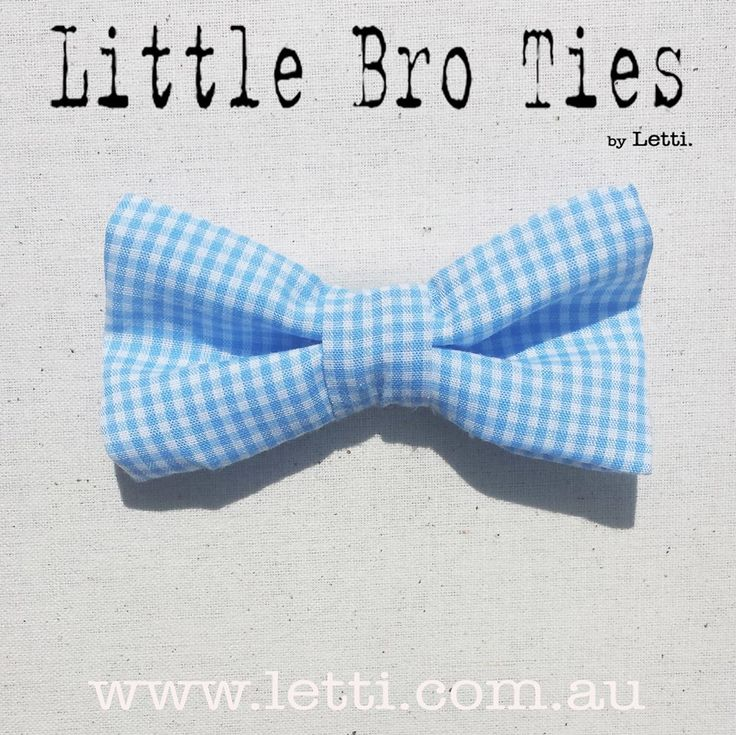 Meet our 'Baby Blue' Little Bro Tie.  Perfect for the Little Boys in your Life!  Available for Only $12 with FREE Postage within AUS.  www.letti.com.au