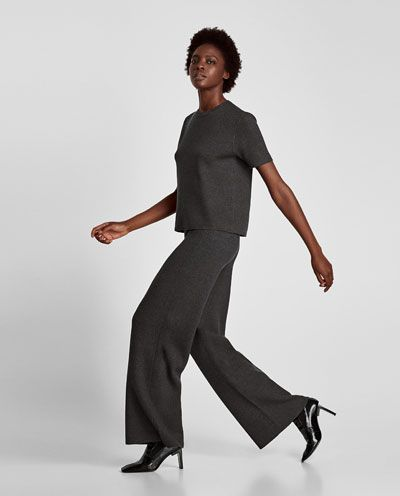Image 4 of PALAZZO TROUSERS from Zara