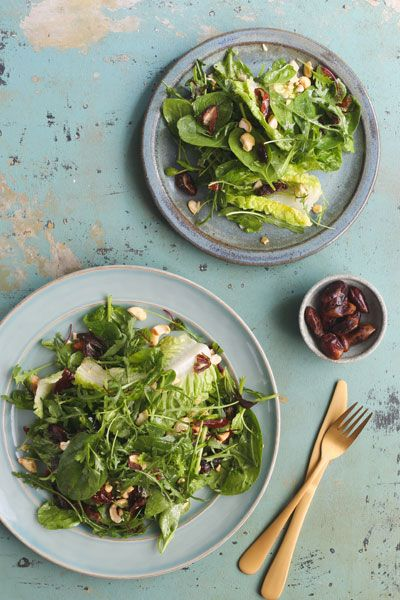 Spinach, Baby Gem and Herb Salad with Dates | Crush