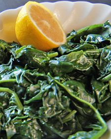Spinach with Lemon  Had this in my new steamer as a side but I might make a lunchbowl of this again.