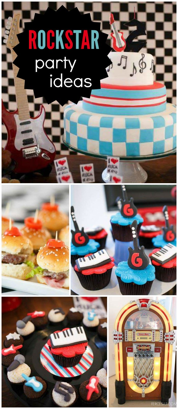 You have to see the amazing treats at this rock party! See more party ideas at CatchMyParty.com!