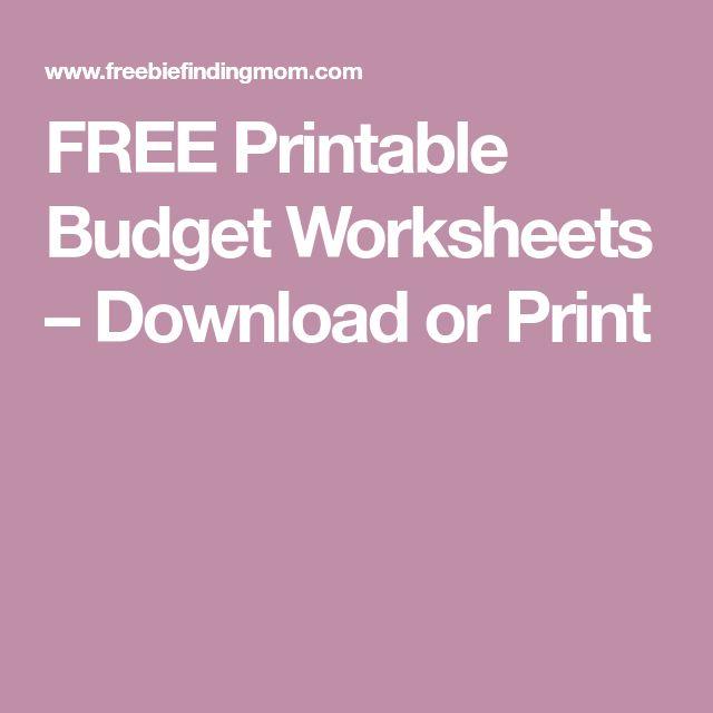 Best 25+ Budget worksheets ideas on Pinterest Budget planner - budget worksheet template