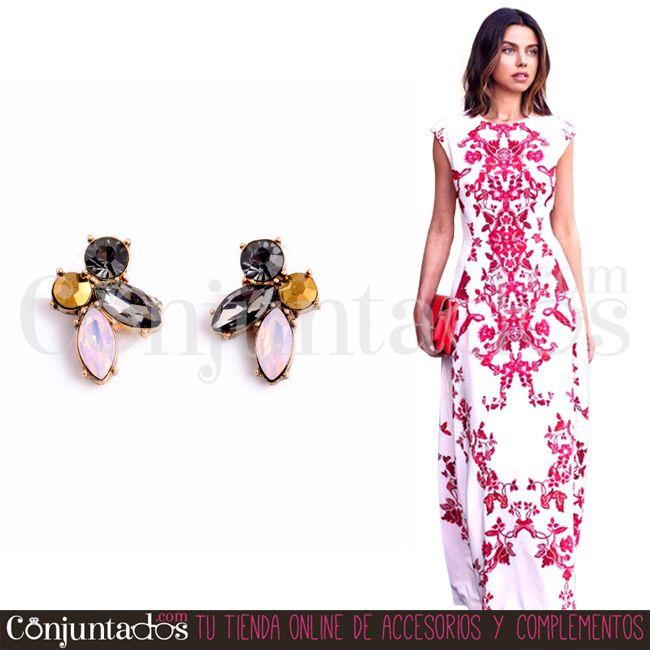Los #pendientes Anie son perfectos para ir enjoyada discreta y elegante sin llamar en exceso la atención ★ 9'95 € en http://www.conjuntados.com/es/pendientes/pendientes-cortos/pendientes-anie-de-cristales.html  ★ #novedades #earrings #conjuntados #conjuntada #joyitas #jewelry #bisutería #bijoux #accesorios #complementos #lowcost #moda #fashion #fashionadicct #picoftheday #outfit #estilo #style #GustosParaTodas #ParaTodosLosGustos