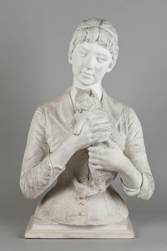 Antonina Rożniatowska, Kobieta z kotkiem (1888)