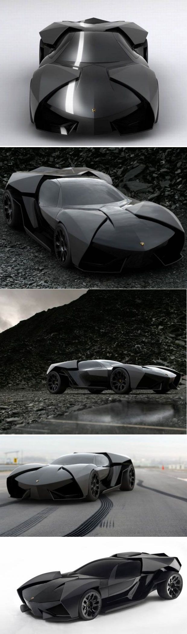 "Lambo- looks like the next ""Batman"" car and definitely better than that tank they had in the recent films lol"