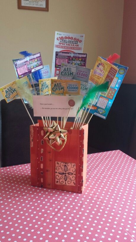 Lottery ticket bouquet, great for presents!! | Lottery ...