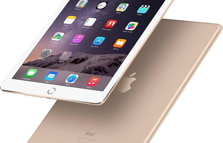 """iPad Air 2 - 9.4""""(H)x6.6""""(W)x0.24""""(D), just 0.96lb; 9.7-inch (diagonal) LED-backlit widescreen; 264 ppi resolution; A8X chip along with M8 motion coprocessor; 8 MP camera with f/2.4 aperture; built-in finger print sensor"""