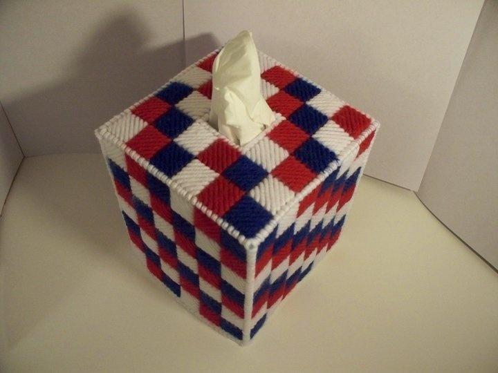 Tissue Box Cover: Canvas Patterns, Canvas Crafts, Plastic Canvas, Boxes Covers, Crafts Projects, Canvas Patriots, Canvas Idea, Photo