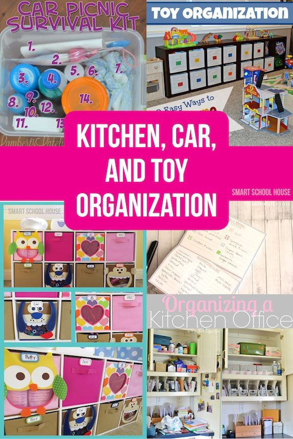 Kitchen Car and Toy Organization