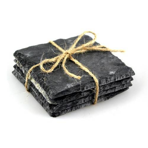 Reclaimed Slate Coasters, Square set of 4, from Handcrafted by Haynes - £10 Handmade from reclaimed materials