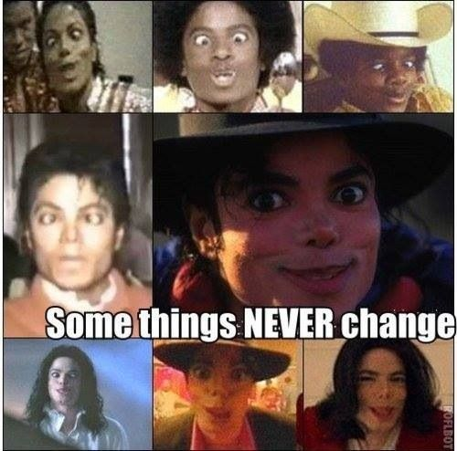 Skin might have change but its still the same old Michael Jackson