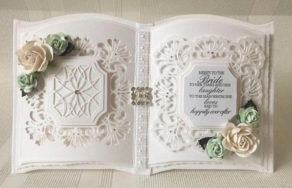 Wedding keepsake card bookatrix style card with gift box