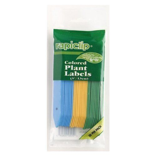 "LUSTERLEAF rapiclip Colored Plant Labels Sold in packs of 12 by LUSTERLEAF. $36.87. Colored plant labels. 5"". 12 packs per order. 30 per pack. * Colored plant labels * 5"" * 30 per pack * 12 packs per order"