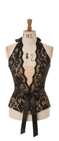Baylis & Knight Black Nude French Lace DIANA by BaylisandKnight, £90.00 if