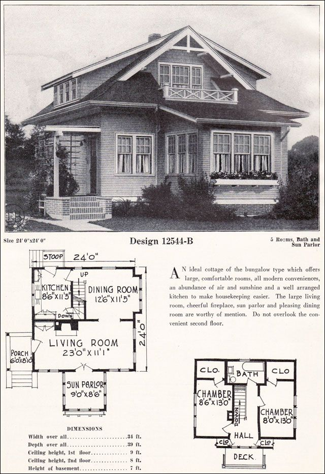 84 best yesteryear 39 s house plans images on pinterest for Vintage bungalow house plans