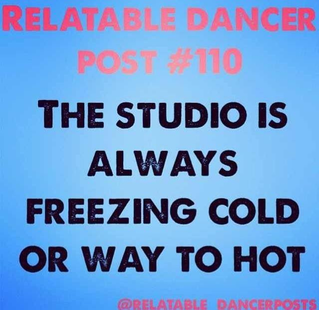 It's cold when you walk in, but the second you start dancing...? That's a completely different story...❤️ #dancer #mylife