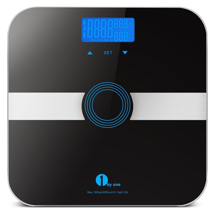 1byone Body Fat Scale with Tempered Glass, 180kg/400lb Weight Capacity, 10 Users Auto Recognition, Measures Weight, Body Fat, Water, Muscle, Calorie and BMI, Black -- Continue to the product at the image link.