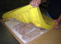 Polyurethane mold rubbers are the mold material of choice for casting manufactured stone veneer. These molds capture great detail & have long mold life.
