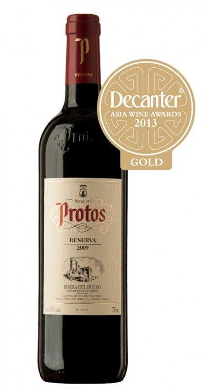 Protos Reserva 2009, único Ribera del Duero que consigue la Medalla de Oro en los Decanter Asia Wine Awards 2013.