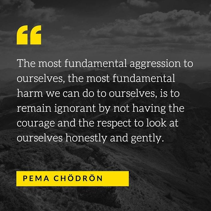 Pema Chodron on self-reflection.