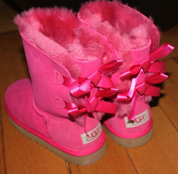 Pink Ugg Boots With The Pink Ribbon On The Back Ugg