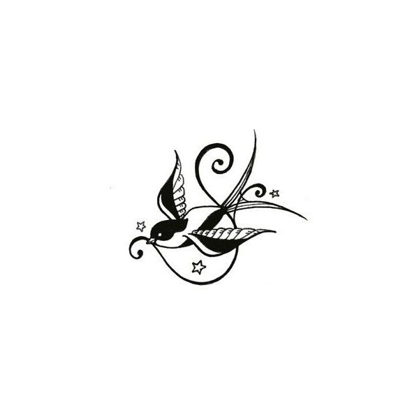 Nice Tattoo Designs: Nice Swallow Tattoo Designs found on Polyvore
