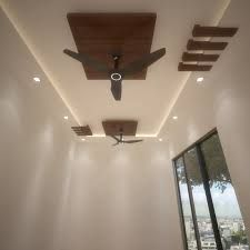 false ceiling design for hall with two fans | House ...