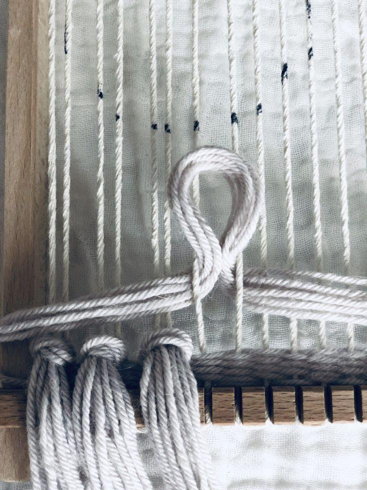 DIY Woven Wandbehang   Kreisentwurf mit einem Webstuhl – Zharzi