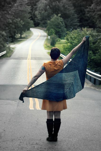 Ravelry: Which Way shawl pattern by Stephanie Shiman