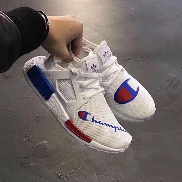 Sofisticado creencia radio  WEBSTA @streetwearcathedral Would you cop a Champion x nmdXR1 collab? Shoe  trees are no new concept but … | Champion shoes, Sneakers fashion, Sneakers  men fashion