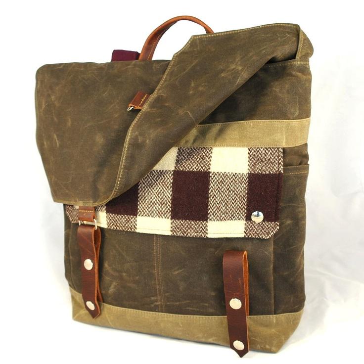 Lumberjack Waxed Canvas Backpack. $185.00, via Etsy.