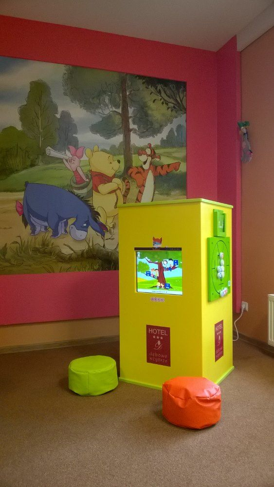 Interactive kids corner in a mountain resort. Perfect amusement for the evening or if the weather breaks.