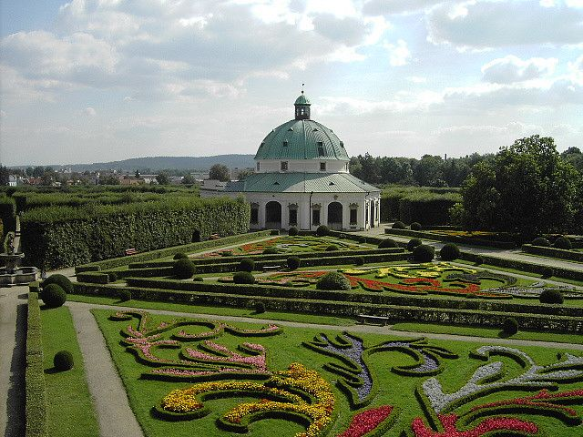 The gardens of Kromeriz Archbishop's Palace - Czech Republic.