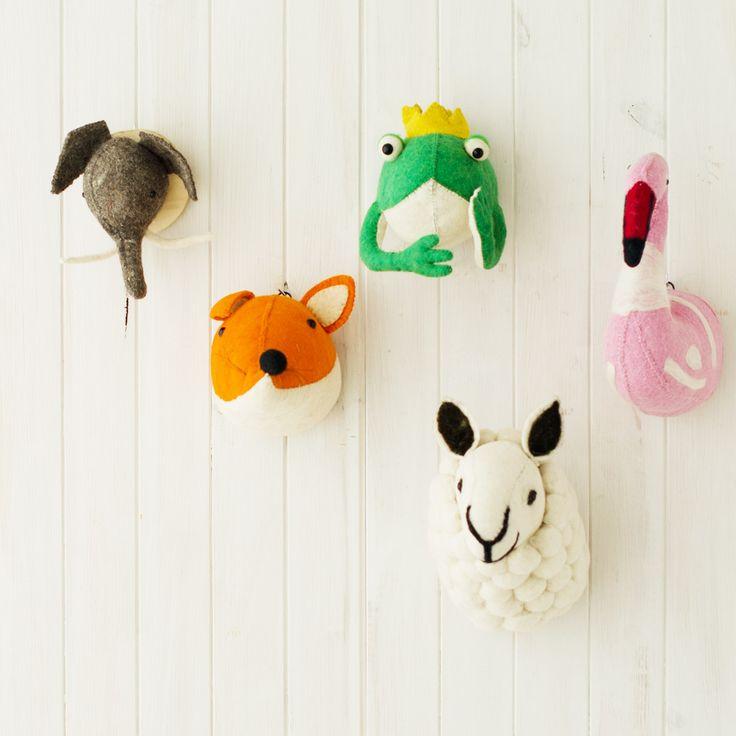 Softheads pinterest cabezas de animales animales de fieltro y de - Cabezas animales tela ...