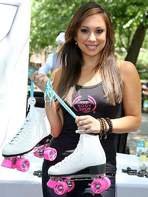 Cheryl Burke Rolls With Retro Fitness