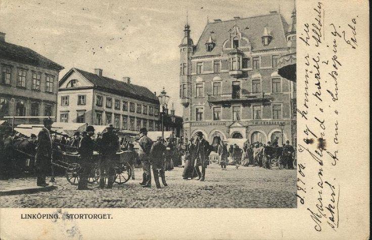 Stora Torget kallades förr Stortorget. Bilden taget 1906