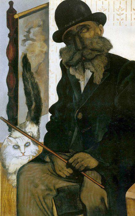 Jankel Adler (1895-1949) - 1925 Cleron, the Cat Breeder