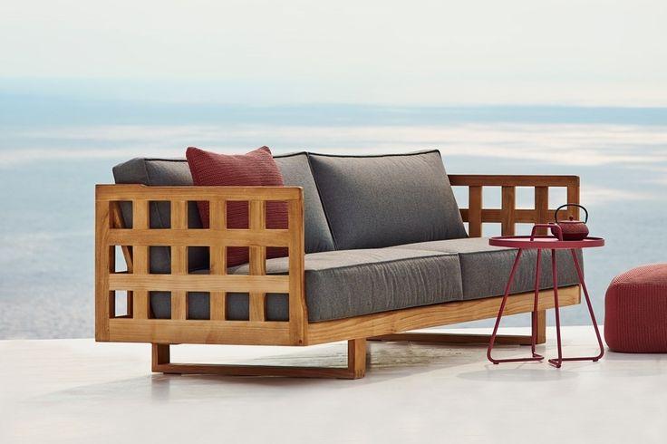 SQUARE Cane-line sofa teakowa Willow House