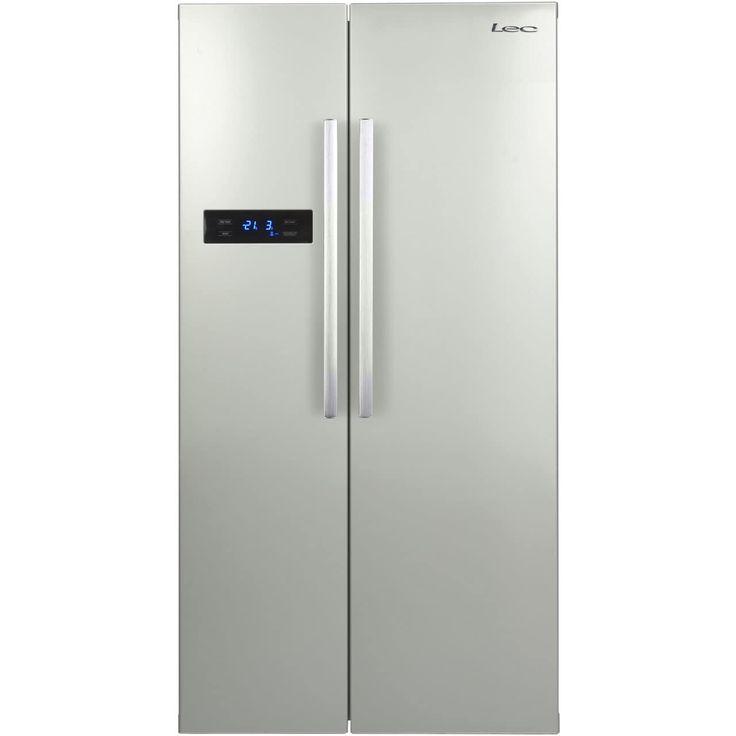 AFF90185S_SI | Lec American Fridge Freezer | Silver | ao.com