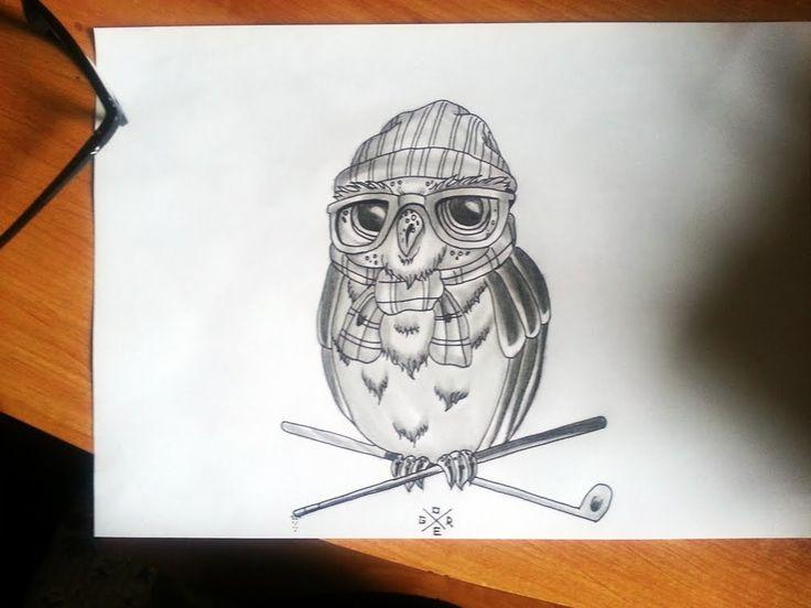 Artgore Tattoo design Owl draw