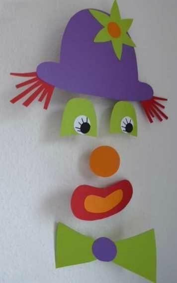 Mobile-Clown #karneval | Fasching basteln, Clown basteln