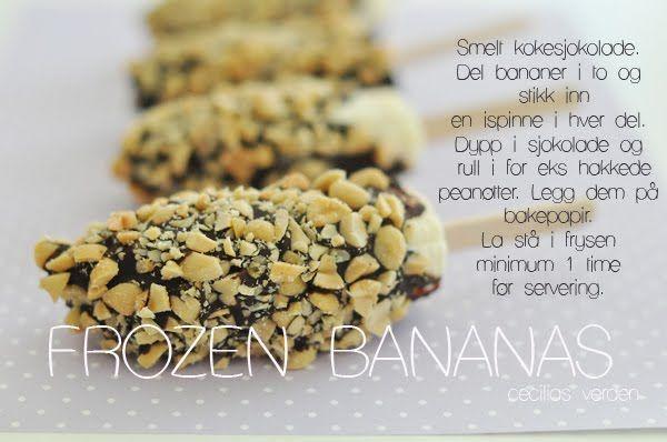 Fryste bananer