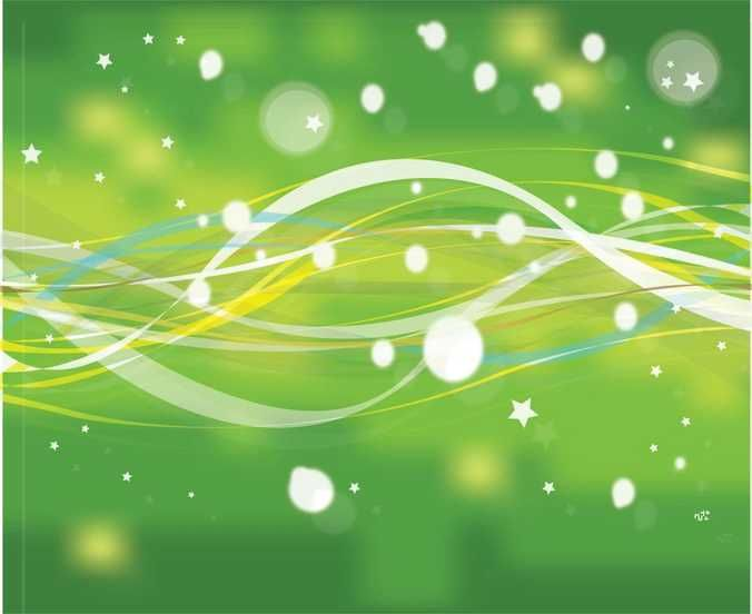 Abstract Green Nature Line With Stars - FREE