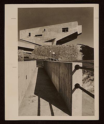 Marcel Breuer's Bergrisch Lecture Hall, Bronx Community College, c. 1964-67.
