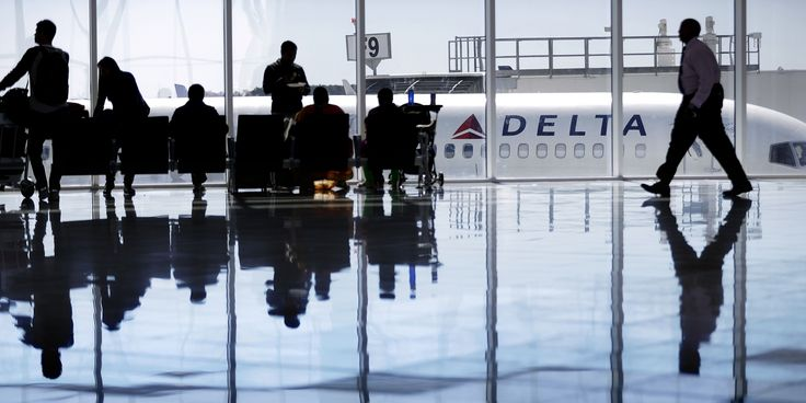 A Delta Air Lines jet sits at a gate at Hartsfield-Jackson Atlanta International Airport, in Atlanta, Thursday, Oct. 13, 2016. Lower airfares and rising salaries are putting a squeeze on Delta Air Lines. Luckily for the airline, the price of jet fuel remains cheap and the Atlanta-based carrier was able to report a third-quarter profit of $1.26 billion, down 4 percent from the same period a year earlier. (AP Photo/David Goldman)