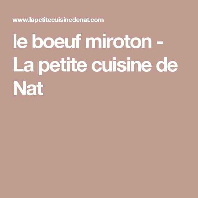 le boeuf miroton - La petite cuisine de Nat
