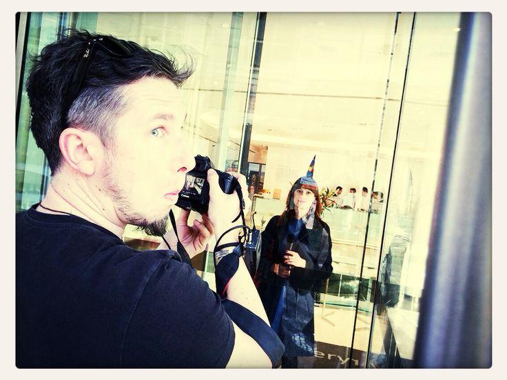 Shooting the Intro of Praguing Around, episode 3, at Hotel Josef :-)