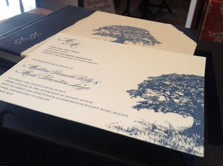 Wedding guest book made to match invitation
