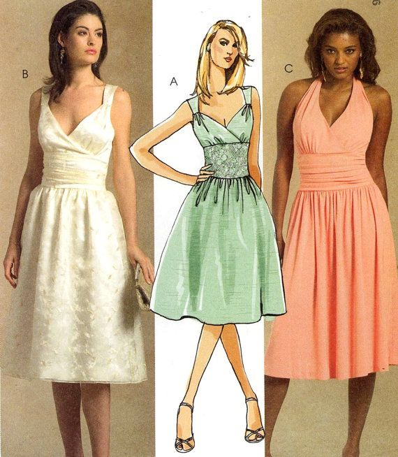 Halter dress pattern or sleeveless dress for by HeyChica on Etsy, $10.95