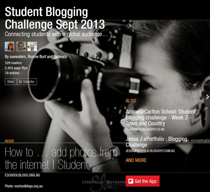 Our Sept 2013 Flipboard magazine.  Used to showcase the student and class blog posts from the Student blogging Challenge as well as the tasks they do during the challenge.